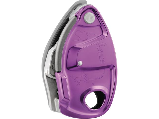 Petzl Grigri+ Belay-enhed, violet/sølv